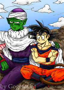Lets share my cape -Piccolo x Goku-xGogetaCatx-ibDBZ Reloaded-b The Yaoi Saga -i-Thumb73