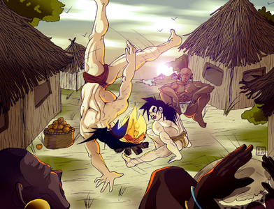 Goku teaching Capoeira to Gohan-Neutral  Fighting-Training-Rena Sama-ibDBZ Reloaded-b The Yaoi Saga -i-Thumb81