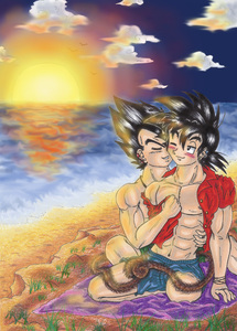 Whispers at the beach-Vegeta x Goku-xGogetaCatx-ibDBZ Reloaded-b The Yaoi Saga -i-Thumb85