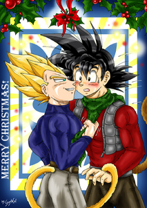 Christmas Kissing  The Saiyajin Fathers Way-Vegeta x Goku-xGogetaCatx-ibDBZ Reloaded-b The Yaoi Saga -i-Thumb89